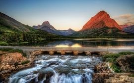 Mountains landscapes nature bridges hdr photography wallpaper