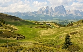 Mountains landscapes nature fields hills wallpaper