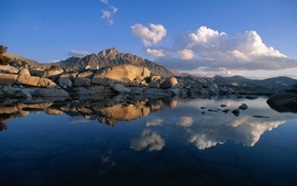 Mountains landscapes nature reflections 2 wallpaper
