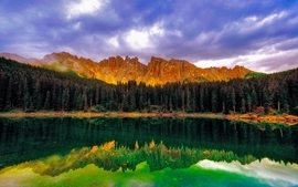 Mountains landscapes reflections 2 wallpaper
