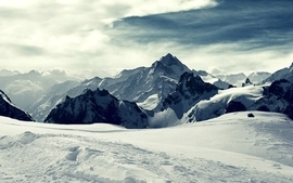 Mountains landscapes snow wallpaper