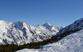 Mountains landscapes winter season wallpaper