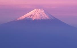 Mountains nature mount fuji mac purple mac os x wallpaper