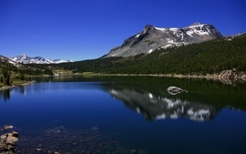 Mountains nature trees reflections wallpaper