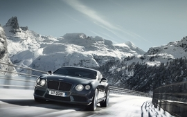 Mountains snow cars bentley sports cars wallpaper