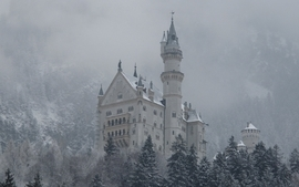 Mountains winter castles germany bavaria neuschwanstein castle wallpaper