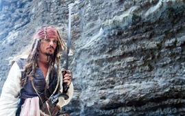 Movies men pirates of the caribbean jack sparrow johnny depp wallpaper