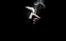 Movies smoke black background wolfman wallpaper