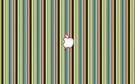 Multicolor apple inc candy lines apples wallpaper