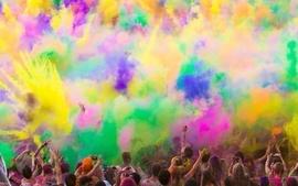 Multicolor artwork holi colors wallpaper