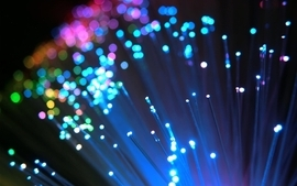 Multicolor bokeh colors optical fiber wallpaper