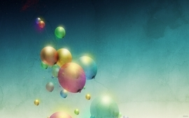 Multicolor stars balloons wallpaper