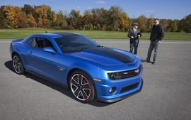 Muscle cars tuning chevrolet camaro blue cars hot wheels 2013 3 wallpaper