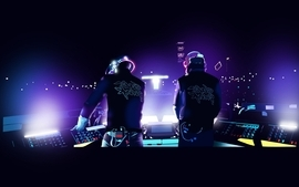 Music daft punk electro club wallpaper