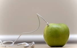 Music funny apples wallpaper