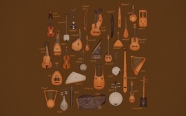 Music instruments comparisons wallpaper