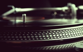 Music record turntable vinyl wallpaper