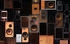 Music speakers wallpaper