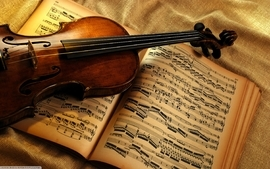 Music violins wallpaper