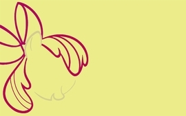 My little pony apple bloom wallpaper