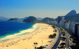 Nature beach cityscapes sea brazil copacabana wallpaper