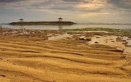 Nature beach sand pattern sea wallpaper