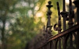 Nature fences macro depth of field wallpaper