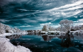 Nature snow balance skyscapes wallpaper