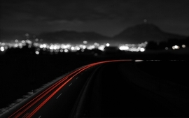 Night monochrome long exposure selective coloring wallpaper