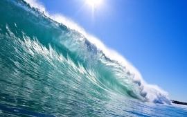 Ocean beach sea waves surfing wallpaper