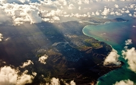 Ocean clouds landscapes nature coast sea land wallpaper