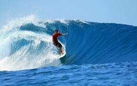 Ocean waves sports surfing sunlight wallpaper