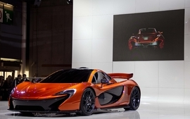 Orange cars mclaren p1 wallpaper