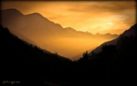 Orange italy morning skyscapes wallpaper
