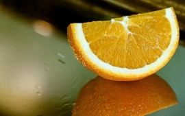 Oranges orange slices reflections wallpaper