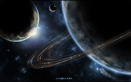 Outer space avatar stars planets wallpaper