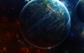 Outer space earth space art wallpaper