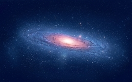 Outer space galaxies andromeda mac os x wallpaper