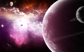 Outer space galaxies planets 2 wallpaper