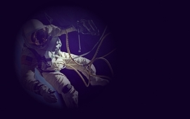 Outer space purple astronauts space suit photo manipulation wallpaper