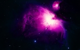 Outer space purple nebulae wallpaper