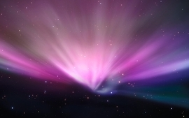 Outer space stars aurora wallpaper