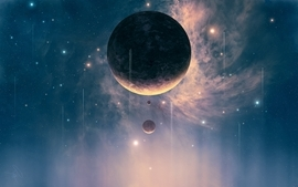 Outer space stars planets cosmos joejesus josef barton wallpaper