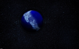 Outer space stars world earth wallpaper