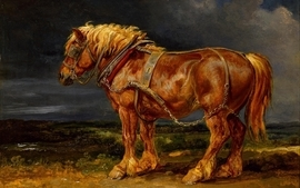 Paintings horses artwork wallpaper