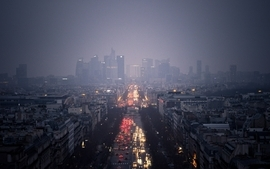 Paris freedom cityscapes streets cars photography france mist wallpaper