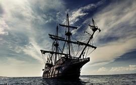 Pirate ship oceans skydoll wallpaper