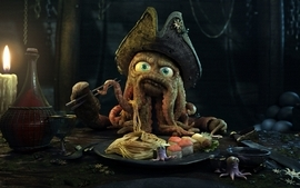Pirates octopus pirates of the caribbean flying dutchman wallpaper