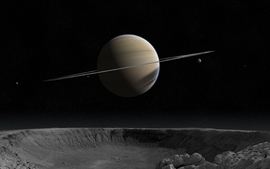 Planets cosmos saturn 3d wallpaper