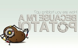 Portal humor video glados potatoes game wallpaper